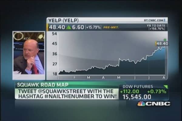 Cramer: Apple should buy Yelp for $75/share