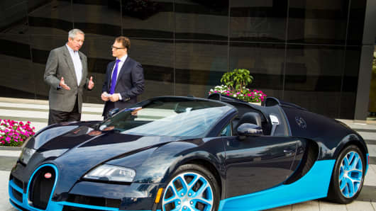 Robert Frank speaks with John Hill, head of sales and marketing for Bugatti North America.
