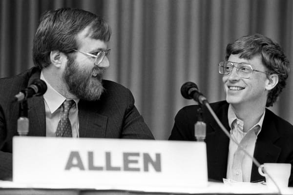 Paul Allen, left, and Bill Gates in 1987