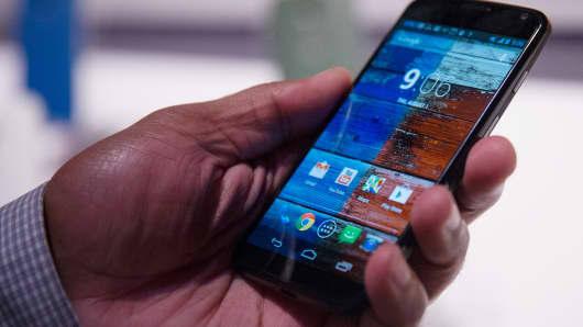 The Motorola Mobility Moto X.