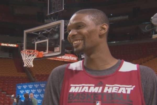 Miami Heat's Chris Bosh on Twitter