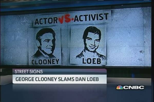 Clooney vs. Loeb