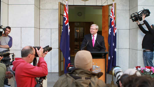 Australian Prime Minister Kevin Rudd calls for September 7 election.