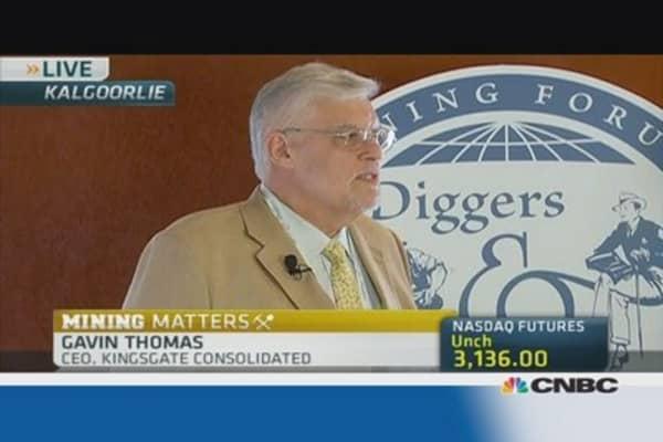 Australian mining regaining control: Kingsgate CEO
