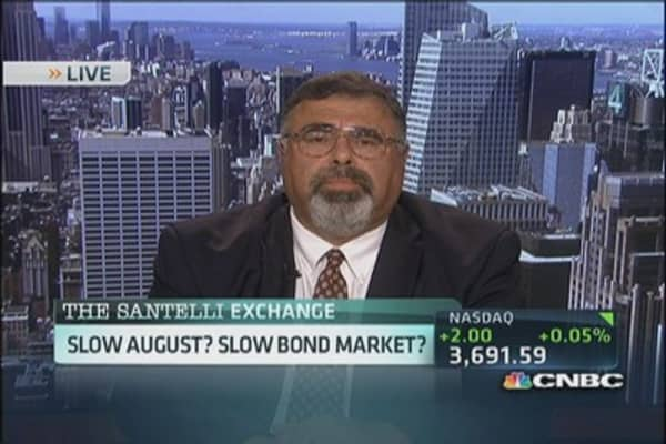 Santelli: Slow August? Slow bond activity?