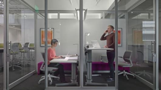 Innovation requires great focus, both on a group and individual level. Workers crave spaces where they can concentrate individually and have private conversations.