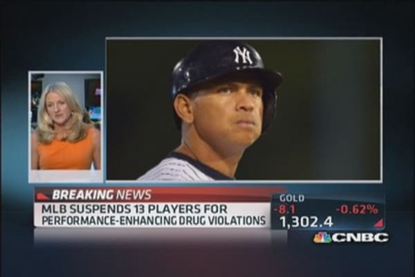 Alex Rodriguez among 12 other MLB player suspended
