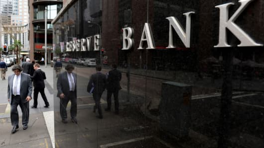 Reserve Bank of Australia (RBA) headquarters in Sydney, Australia.