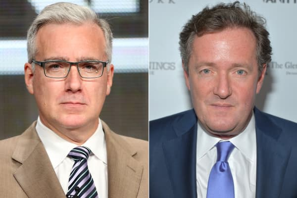 Keith Olbermann and Piers Morgan