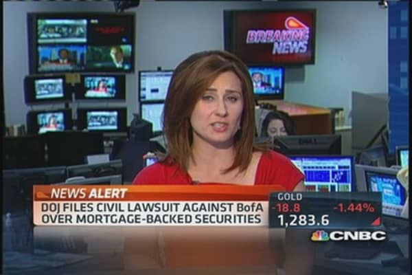 DOJ files civil lawsuit against Bank of America