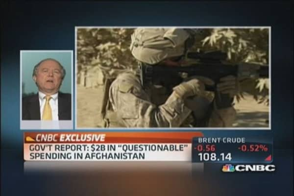'Questionable' spending in Afghanistan