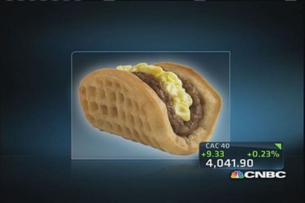 Taco Bell places breakfast tacos on the menu