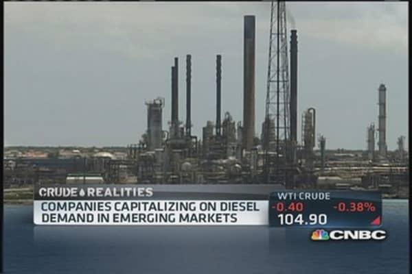 Diesel fueling US exports