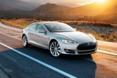The young and rich snapped the Tesla model S