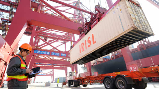 Shipping container at China's Dapu Port