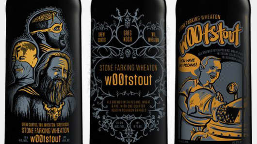 Stone Brewing Co. W00tstout labels