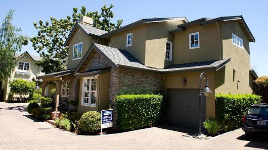 A three-bedroom, 2.5 bath listed for $1,350,000, in Menlo Park, Calif.