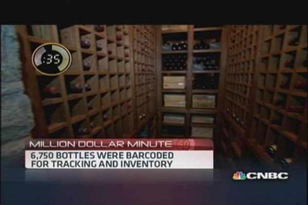 Private wine cellar worth millions
