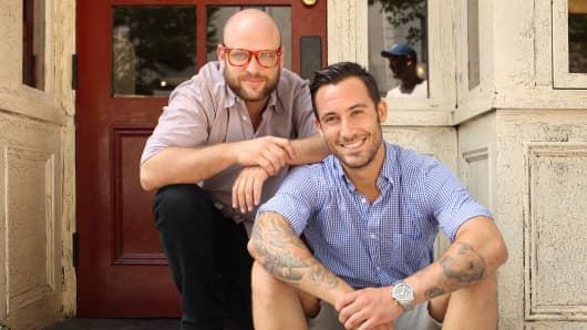 Daniel Holzman, left, and Michael Chernow, co-founders of The Meatball Shop