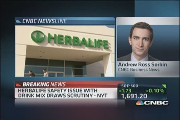 Herbalife safety issue with drink mix draws scrutiny: NYT