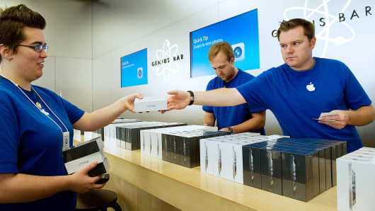 Apple employees in San Francisco.