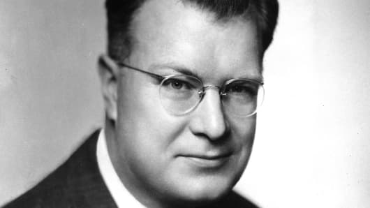 Chester F. Carlson, inventor of xerographic printing, in October 1948.
