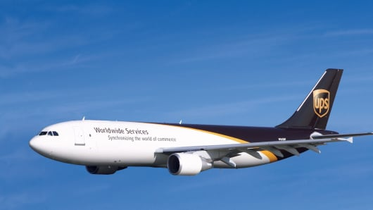 Ups Jet Aircraft Landing At Distribution Center In Louisville ...