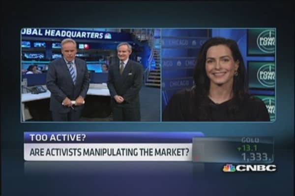 Are activists manipulating the market?