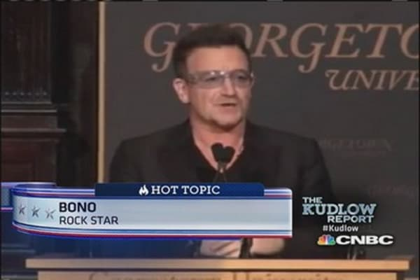 Bono on capitalism & poverty