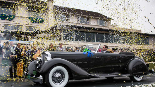 "The 1934 Packard 1108 Twelve Dietrich Convertible Victoria, took the ""Best of Show Award"" at the Pebble Beach Concours d'Elegance in Pebble Beach, Calif., on Sunday, Aug. 18, 2013."