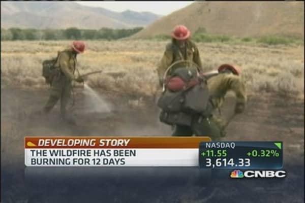 Massive wildfires in Idaho
