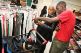Customers shop at a T.J. Maxx store in Washington.