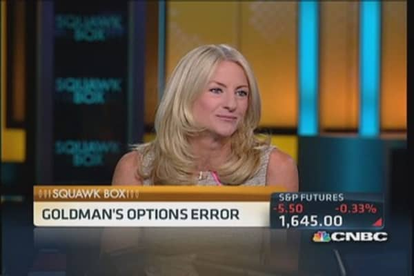 Technical glitch triggers errant Goldman trades