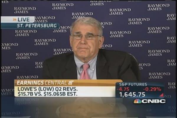 Lowe's reports upbeat quarter, raises forecast