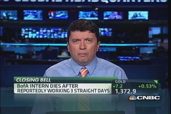 Bank intern's death probed