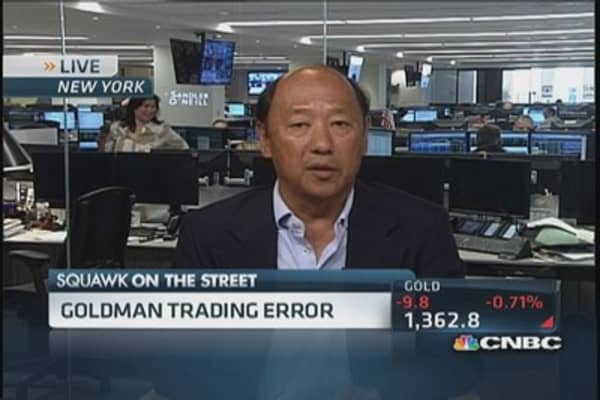 Goldman option trade error