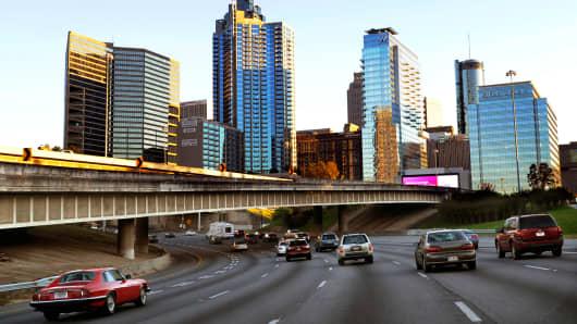 Interstate 75 in downtown Atlanta