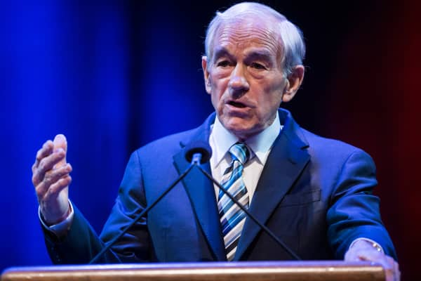 Ron Paul speaking at George Washington University in March