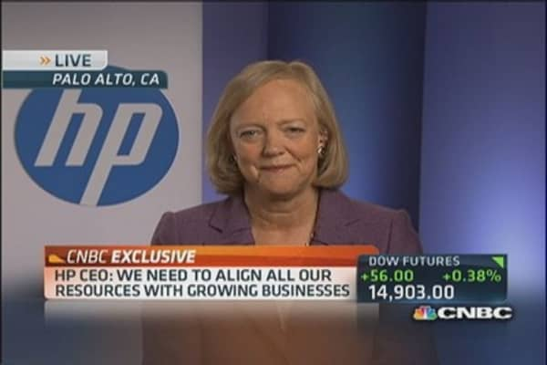 HPQ's Whitman on Earnings