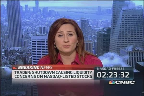 Trader: Shutdown causing liquidity concerns on Nasdaq stocks