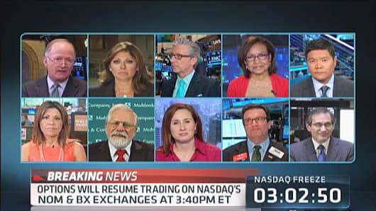 "CNBC's ""Decabox"" - 10 people on screen at once."