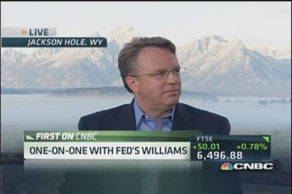 Taper decision depends on data: Williams
