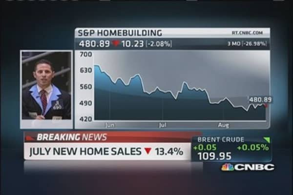 New home sales down 13.4% in July