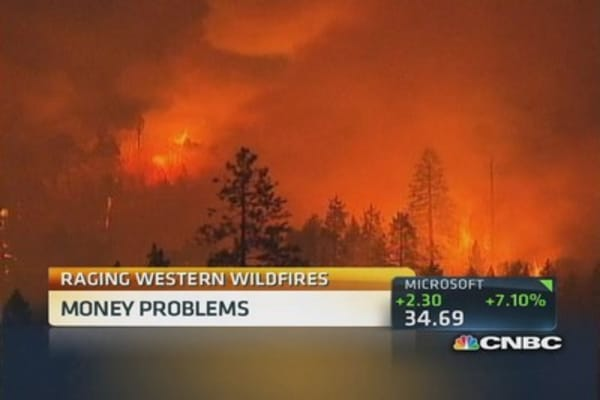 Raging Western wildfires