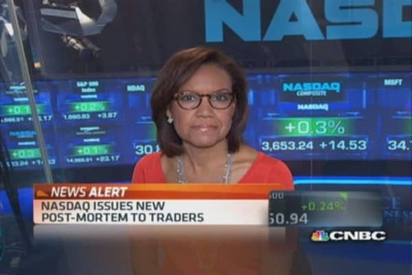 Nasdaq CEO defends response to outage