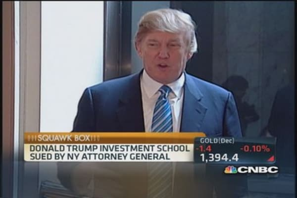 'The Donald' on Trump University claims