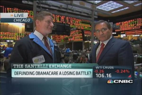 Santelli: The fight to defund Obamacare