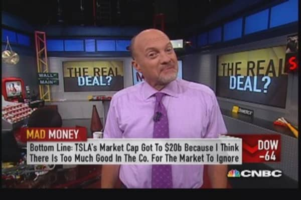 Cramer's take on Tesla's stock surge