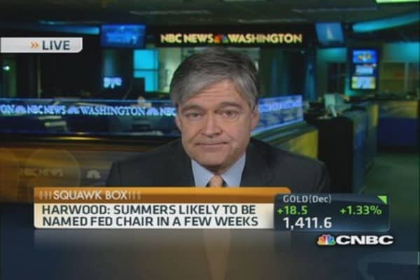 Summers likely pick for Fed chair: Harwood