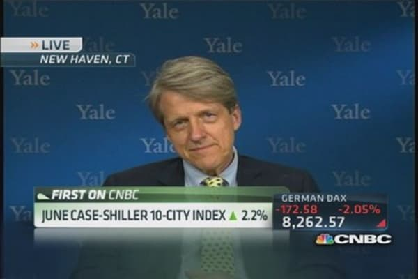 Risk of weakening housing market: Shiller
